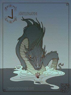 Post with 6488 votes and 165225 views. Tagged with mildly interesting, art, the more you know, mythology, norse; Shared by Norse Mythology A to Z Mythological Creatures, Fantasy Creatures, Mythical Creatures, Norse Runes, Viking Symbols, North Mythology, Loki Norse Mythology, World Serpent, Loki Son