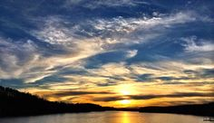 After a hard day on the lake, you earned this #sunset. #visitnc