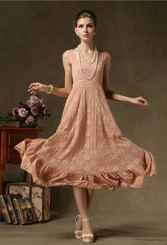 cd774eb24aa Elegant women Lace Cute Ruffle Evening Party Prom Long Maxi Dress Sweet  Hipster  Unbranded  Maxi  Casual