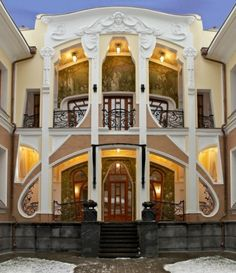 Russian Neo Art Nouveau architecture...I know this is art nuveau NOT art deco but I didn't know what board to put it in so it is here for now