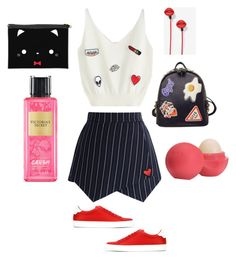 """Street style # 1"" by krishna-chudasama on Polyvore featuring Chicwish, Givenchy, WithChic, Eos and Victoria's Secret"