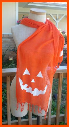 Jack+o+Lantern+Scarf+Halloween+by+NesqueStudios+on+Etsy,+$10.00