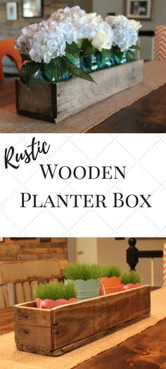 Love this Rustic Wooden Planter box Would