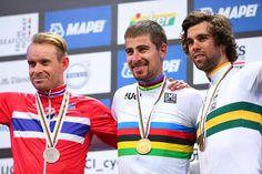 Kristoff, Sagan and Matthews on the podium at Worlds