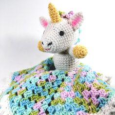 Free Crochet Pattern: Bernat® Softee® Baby Unicorn Lovey