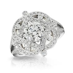 XENIA DIAMOND RING  LES PRÉCIEUSES: 18 carat white gold and features white round diamonds. | Fabergé