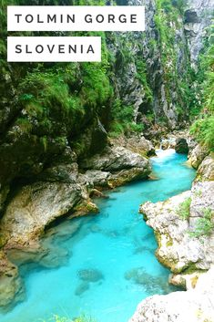 Tolmin Gorge in Slovenia, Europe #travel #traveler #slovenia