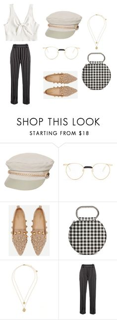 """Untitled #2"" by fangirllllever on Polyvore featuring Brixton, Gucci, Forever 21, Haider Ackermann, stripes and Elegant"