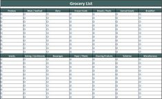 Free grocery list template...opens in Excel, fill it in, print it off! Scroll near bottom of page to find link.