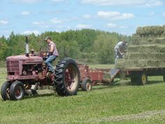"haying image | Baling hay on our Iowa farm was a group effort. To ""make hay ..."