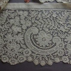 Handmade Belgian Duchesse Bobbin Lace Deep Flounce Yardage | eBay
