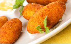 Kroketi punjeni sirom i šunkom Baked Potato, Sweet Potato, Cornbread, Snack Recipes, Chips, Vegetables, Cooking, Ethnic Recipes, Food