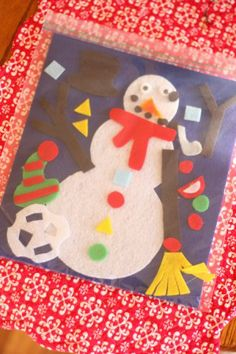 """So want to make this felt """"build-your-own-snowman"""" for my kids!"""