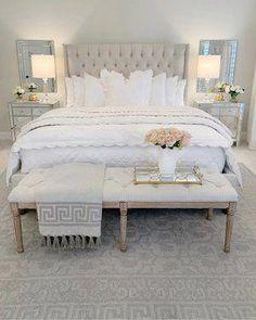 Home Decor Habitacion .Home Decor Habitacion Glam Bedroom, Home Decor Bedroom, Bedroom Ideas, Master Bedroom Design, Gray Gold Bedroom, Neutral Bedrooms, Dream Rooms, Luxurious Bedrooms, My New Room