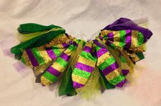Mardi Gras tutu skirt purple green and gold tutu by LilNicks, $18.49