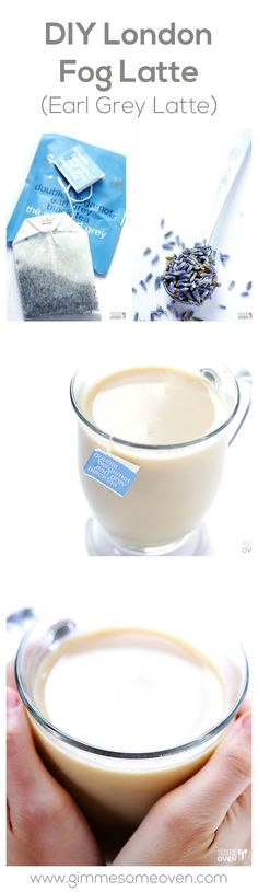 DIY London Fog Latte (Earl Grey Latte) -- so delicious and comforting to make homemade, and SO much cheaper than Starbucks | http://gimmesomeoven.com #drink
