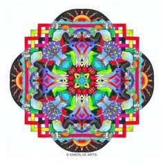 Mandalas: A portfolio of complex coloring pages for adults by Vermont artist, Cynthia Emerlye. This is Set 4 in my Mandala series of coloring Her books may seem a little pricey but her work is worth every penny. I love the book I bought from her. Coloring Book Art, Mandala Coloring, Colouring Pages, Adult Coloring Pages, Mandala Painting, Mandala Art, Watercolor Mandala, Medieval Series, Zentangle