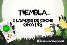 Busca tu lavado de coche gratis en Mis Recompensas, en la app, publica una foto de tu coche cuando lo canjees con el hashtag #LávaloconDriveSmart y... ¡te regalamos un 2º lavado de coche!