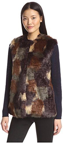 06c05a51424 Bernardo Womens Faux Fur Patchwork Vest Multi XSmall * Continue to the  product at the image