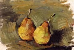 The Athenaeum - Two Pears (Paul Cézanne - )