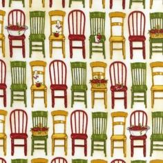Kiss the Cook Cotton Fabric - collection from Kaufman fabrics