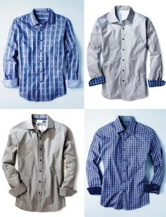 Stripes or paisleys? No matter his pick, stylish sportshirts are always a must, Tasso Elba