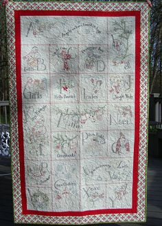 Snowman A to Z embroidered quilt | Flickr - Photo Sharing!