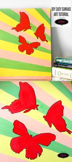 DIY Easy Butterfly Canvas Art