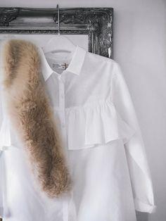 Zara Frills | Fur   #Zara #frills #fur #outfit #winter #tones #neutral #ideas