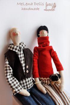 Melena Dolls by Elena Kolodko www.facebook.com/melenadolls Tilda Doll - Tildas - Handmade - Sewing - Tilda - Home - Family - Dogs