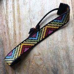 Yirgacheffe loom beaded bracelet in rich rainbow tones gift | Etsy
