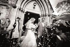 Confetty at St Thomas Anglican Church North Sydney wedding