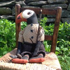 A personal favorite from my Etsy shop https://www.etsy.com/ca/listing/281831838/primitive-patrick-the-puffindoll