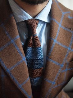 shibumi knit tie Drapperia bespoke jacket (fabric by drapers) Tailorable bespoke shirt