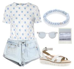 """""""Summer outfit"""" by liza-ionova ❤ liked on Polyvore featuring WithChic, Glamorous, Geox, Sun Buddies and Sydney Evan"""