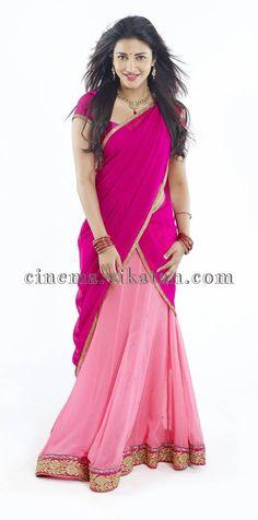 Shruti Haasan in Half saree