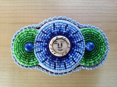 Beaded Barrette NEW SIZE Great for kids by BakedAlaskanDesigns, $40.00