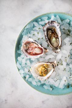 Oyster trio Wasabi ponzu Red wine vinegar & shallots Mango salsa