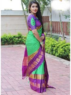Style Array Present Beautiful Multi Color Embroidered Branded Silk Cotton Saree . Buy This Attractive Look Beautiful Multi Color Embroidered Branded Silk Cotton Saree Designer Saree Blouses, Pattu Saree Blouse Designs, Blouse Designs Silk, Designer Blouse Patterns, Bridal Blouse Designs, Lehenga Blouse, Designer Dresses, Simple Blouse Designs, Stylish Blouse Design