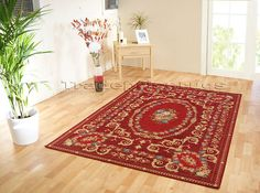 £56.20 150x220cm  SMALL TO LARGE ORIENTAL TAPESTRY STYLE THIN RUG, BEIGE OR DARK BURGUNDY RED | eBay