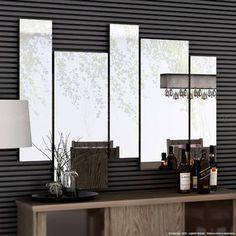 Espelho Decorativo Jade 100% MDF Amêndoa - Casabras