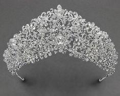 Beautiful Crystal Beaded Crown - Cassandra Lynne Crystal Beads, Crystals, Wedding Tiaras, Bridal Tiara, Bridal Accessories, Headpiece, Fancy, Crown, Bride