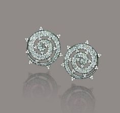 A PAIR OF GREEN BERYLS, GREEN TOURMALINE AND DIAMOND EAR CLIPS, BY JAR