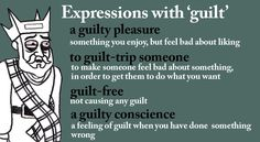 Expressions with 'guilt'