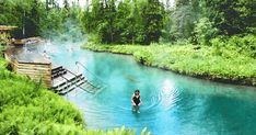 This Surreal Hot Spring Is A Hidden Paradise In Canada - Hot Springs Dream Vacations, Vacation Spots, Vacation Ideas, Voyage Montreal, Cool Places To Visit, Places To Travel, East Coast Canada, Ontario Travel, Canadian Travel
