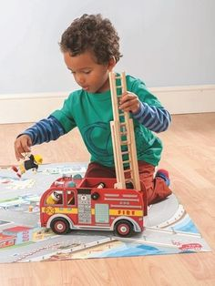 Le Toy Van - Fire Engine Set #EntropyWishList #PinToWin - my boy will go nuts over this. So much potential for imaginative play