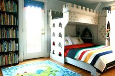 Modern Boys Bedroom With A Castle Bunk Bed | Kidsomania