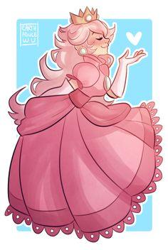 "earthprincewu: ""the prettiest peach "" Super Mario Princess, Mario And Princess Peach, Nintendo Princess, Mario Fan Art, Mario Bros., Mario And Luigi, Super Mario Bros, Super Mario Brothers, Game Character"