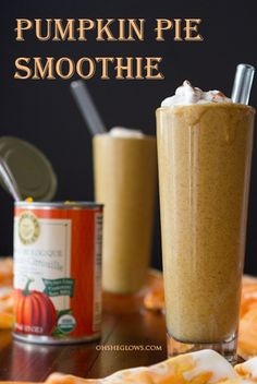 pumpkin pie smoothie...top with cinnamon and coconut milk whipped cream for an extra treat!  {Oh She Glows}