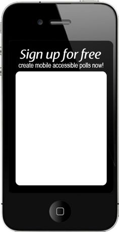 Create classroom polls after integrating the use of cell phones!